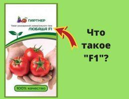 Что означает символ F1 на упаковке семян